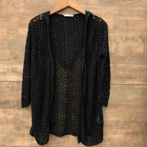 🍀4/25  Maurices Black knitted Hooded Cardigan